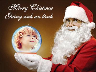Khung ảnh ông già Noel, Khung ảnh quả cầu giáng sinh