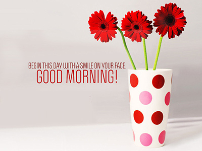 Tạo thiệp chào ngày mới, Chào buổi sáng