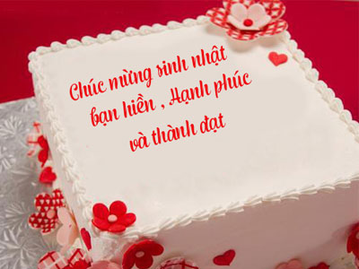 Khắc chữ lên bánh sinh nhật online