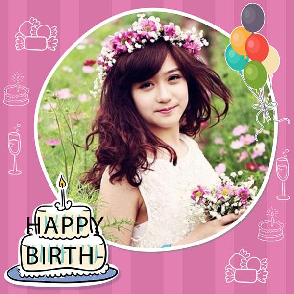 Khung ảnh Sinh Nhật Happy Birthday