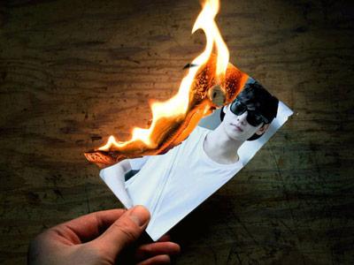 Hiệu ứng khung ảnh cháy