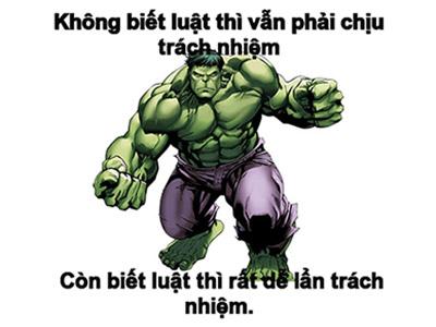 Chế ảnh người khổng lồ Hulk