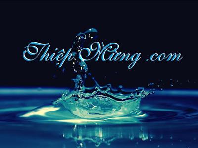 Hiệu ứng chữ trên mặt nước