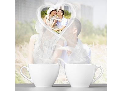 Khung ảnh cốc đôi tình yêu lãng mạn
