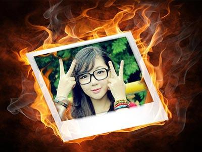 Hiệu ứng khung ảnh rực lửa
