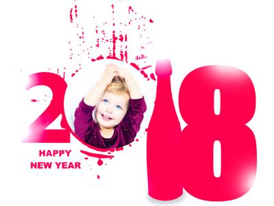 Khung ảnh Chúc mừng năm mới 2018