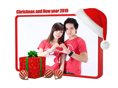 Ghép ảnh noel happy new year 2019