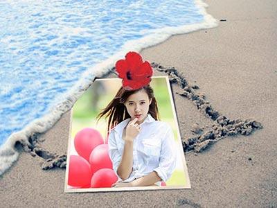 Ghép ảnh trực tuyến với bãi biển đẹp