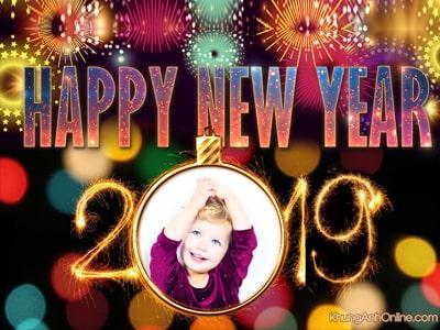Khung ảnh happy new year 2019 , Khung ảnh  năm mới 2019