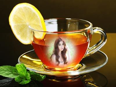 Ghép ảnh vào tách trà chanh