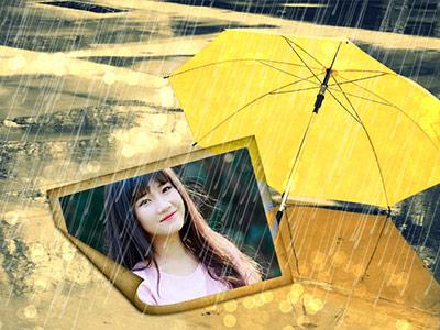 Khung ảnh mưa