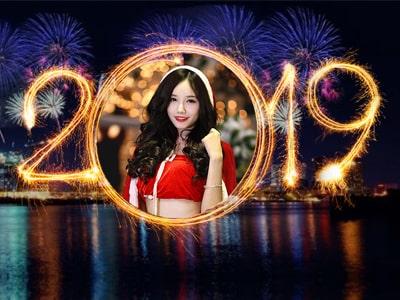 Khung ảnh năm mới 2019, thiệp năm mới 2019