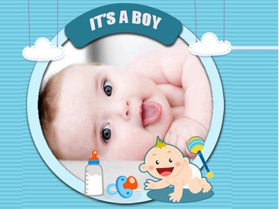 Thiệp  sinh nhật dành cho bé trai