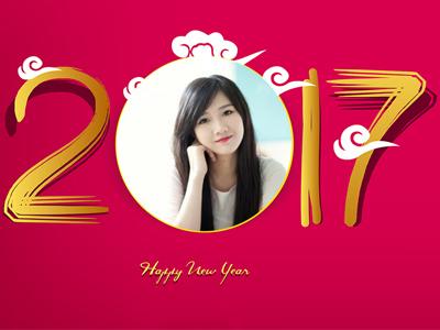 Khung ảnh năm mới 2019 Kỷ Hợi