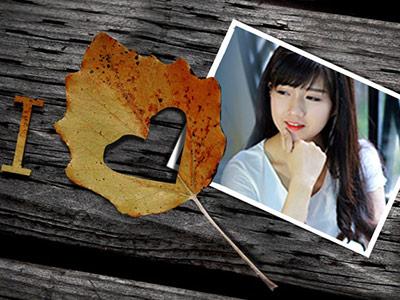 Khung ảnh tình yêu mùa thu