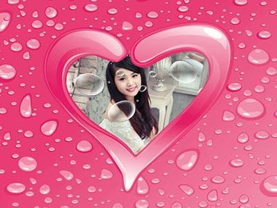 Ghép ảnh vào trái tim lãng mạn online