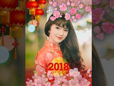Tạo lịch chúc mừng năm mới 2018