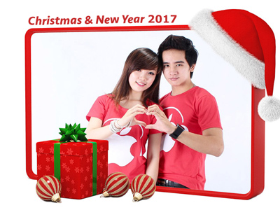Ghép ảnh noel happy new year 2017