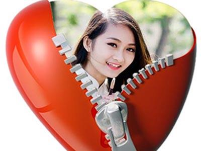 Tạo avatar trái tim online đẹp