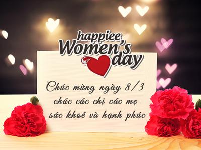 Thiệp chúc mừng quốc tế phụ nữ 8-3 đẹp