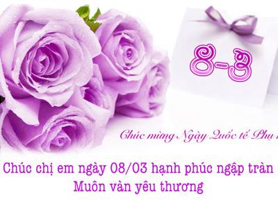 Tạo thiệp chúc mừng ngày 8/3, ngày quốc tế Phụ Nữ
