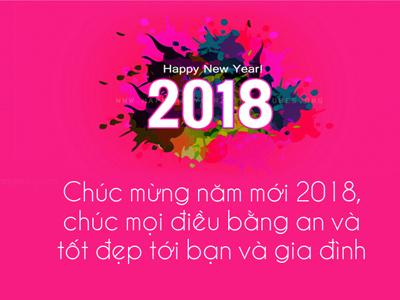 Tạo thiệp  năm mới 2018