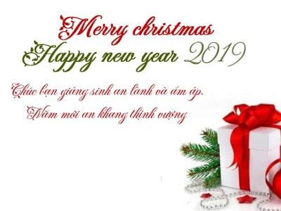 Tạo thiệp chúc mừng noel và năm mới 2019