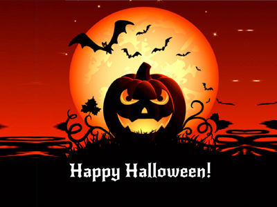 Thiệp Halloween đẹp tạo online