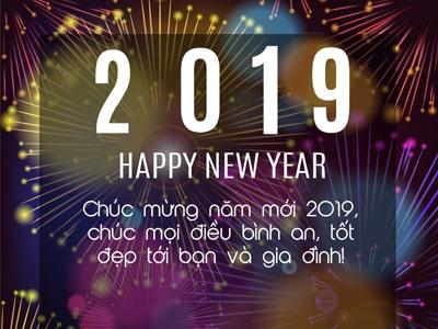 Thiệp chúc mừng năm mới, happy new year 2019