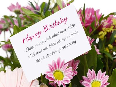 Tạo thiệp hoa chúc mừng sinh nhật online