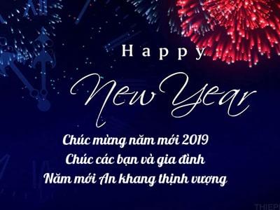Tạo thiệp chúc mừng năm mới 2019 online