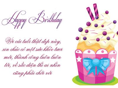 Viết lời chúc sinh nhật trực tuyến