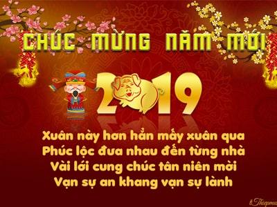 Thiệp chúc tết 2019 online