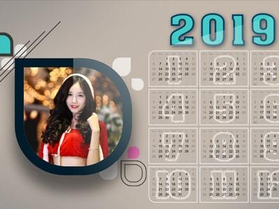 Tạo lịch năm mới 2019 trực tuyến