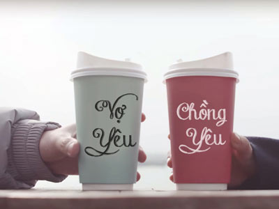 Viết chữ cốc đôi theo phong cách  MTV  của Sơn Tùng
