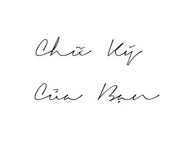 Tạo chữ ký theo tên online