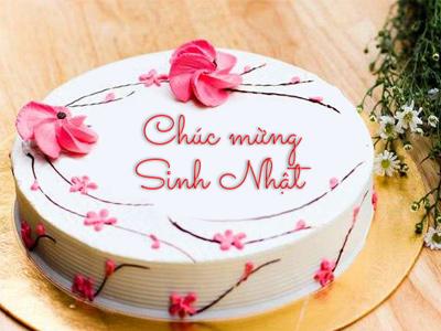 Bánh sinh nhật in chữ