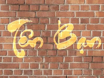 Viết chữ lên tường