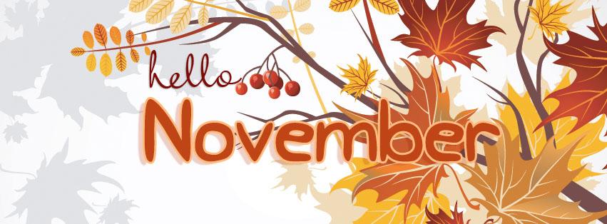 Открытка настоящему, картинки с надписью ноябрь на английском