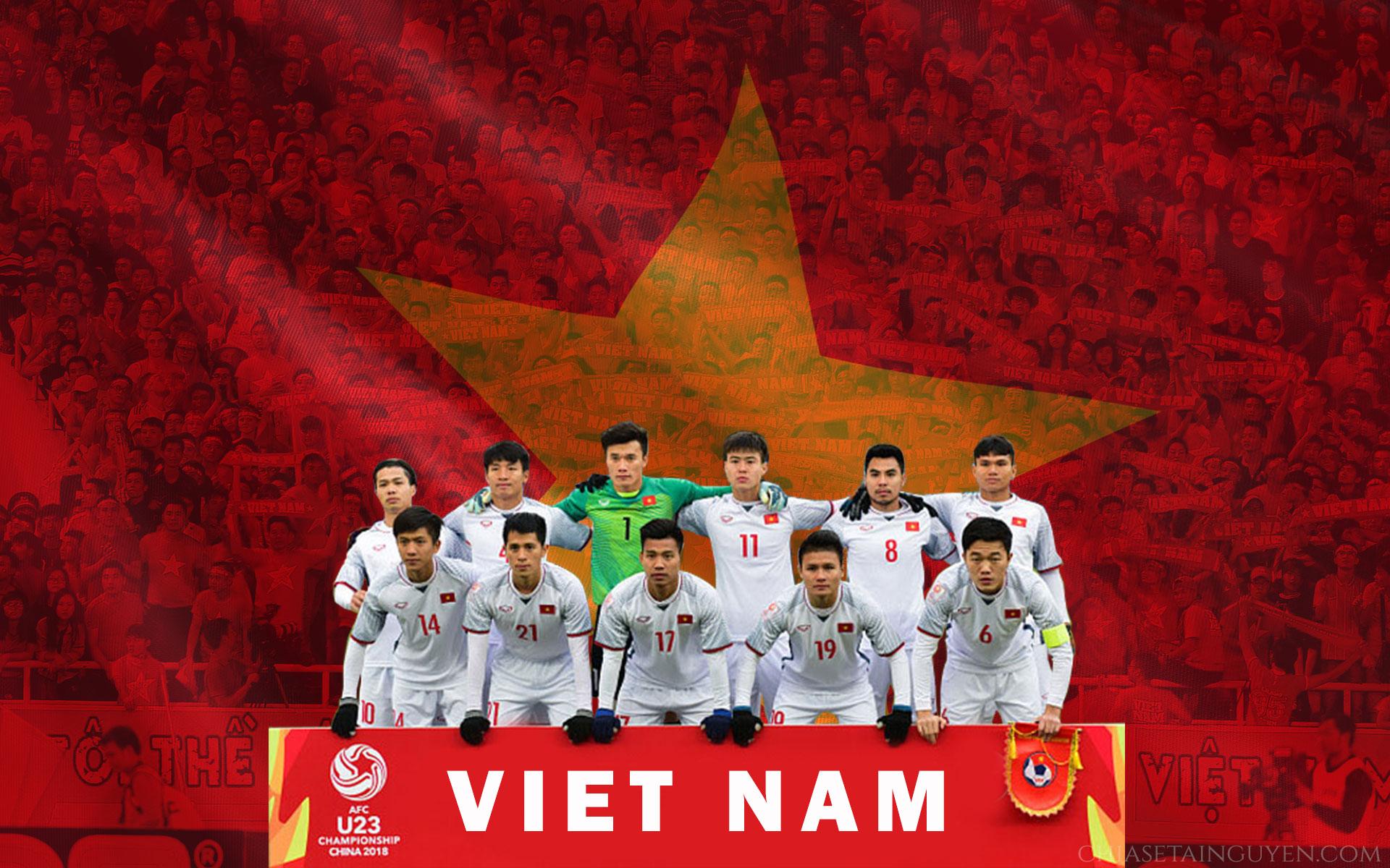 Bộ hình nền, banner cổ vũ U23 Việt Nam - Tinh thần chiến thắng-