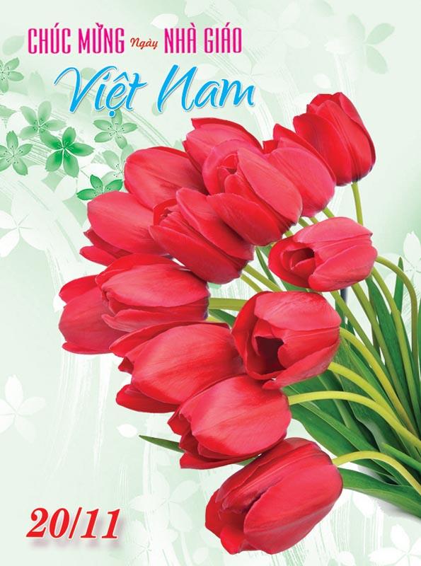 Bộ thiệp chúc mừng ngày nhà giáo Việt Nam 20 - 11 đẹp- Hình 12