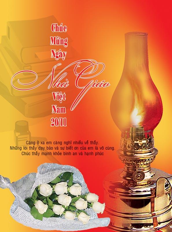 Bộ thiệp chúc mừng ngày nhà giáo Việt Nam 20 - 11 đẹp- Hình 9