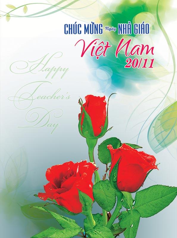 Bộ thiệp chúc mừng ngày nhà giáo Việt Nam 20 - 11 đẹp- Hình 7