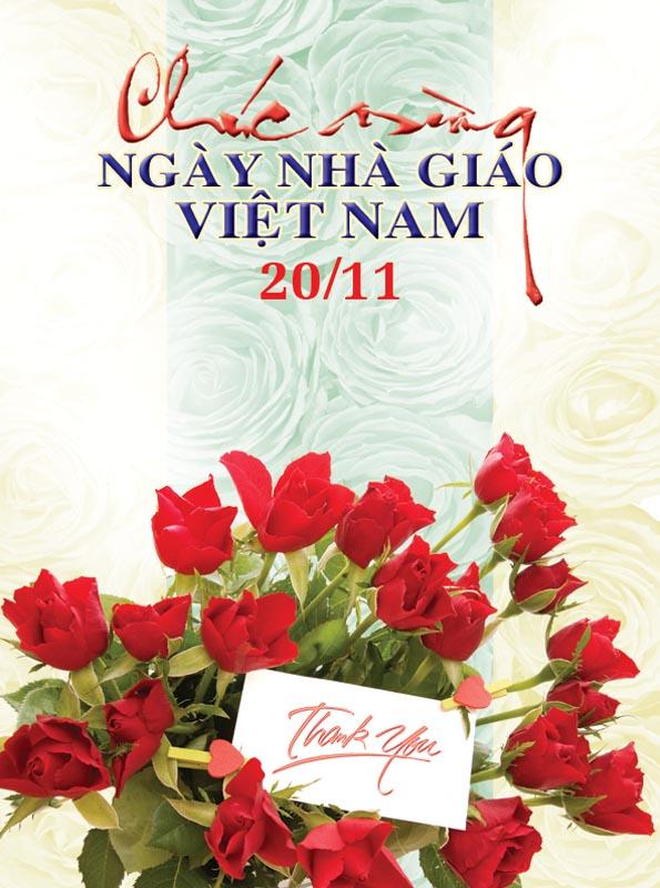 Bộ thiệp chúc mừng ngày nhà giáo Việt Nam 20 - 11 đẹp- Hình 17