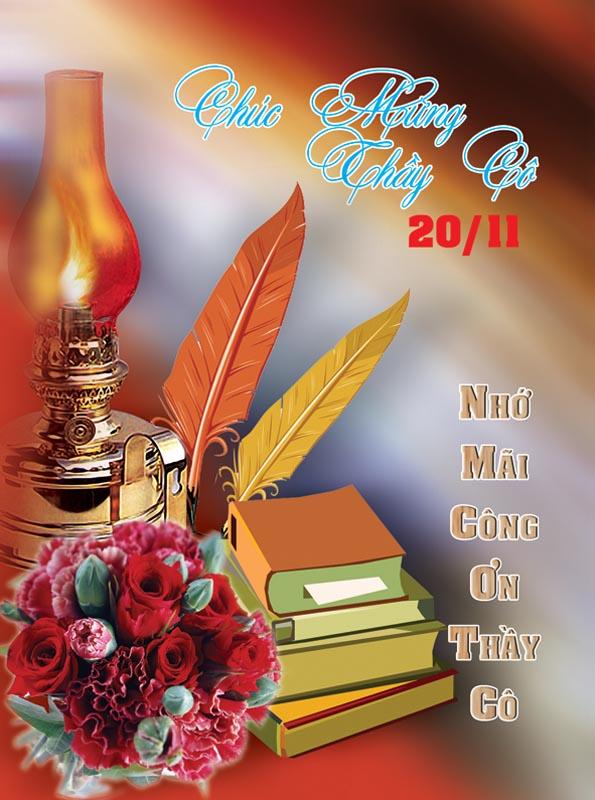 Bộ thiệp chúc mừng ngày nhà giáo Việt Nam 20 - 11 đẹp- Hình 5