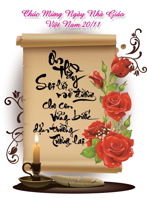 Bộ thiệp chúc mừng ngày nhà giáo Việt Nam 20 - 11 đẹp- Hình 3