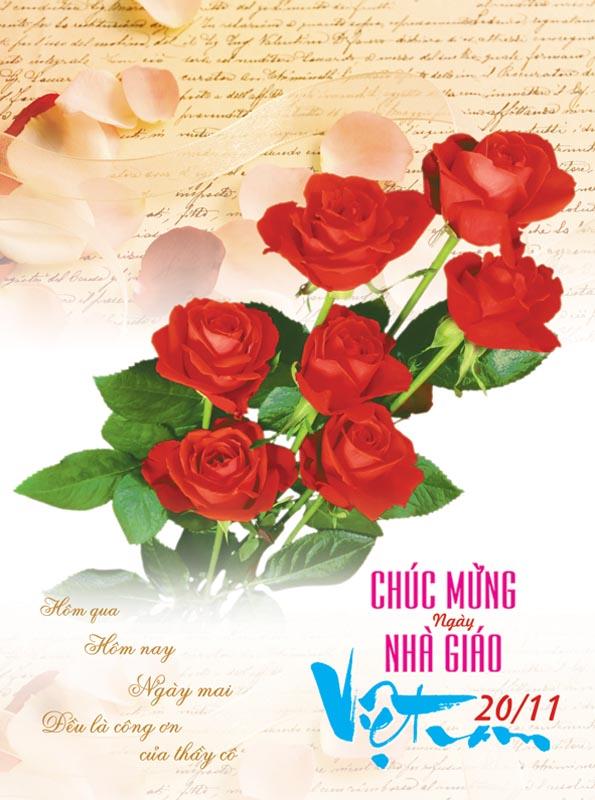 Bộ thiệp chúc mừng ngày nhà giáo Việt Nam 20 - 11 đẹp- Hình 19