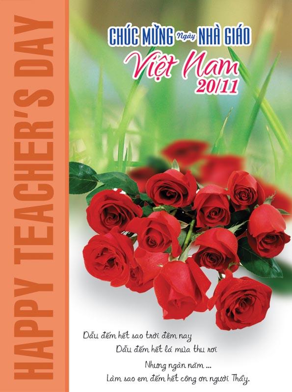 Bộ thiệp chúc mừng ngày nhà giáo Việt Nam 20 - 11 đẹp- Hình 11