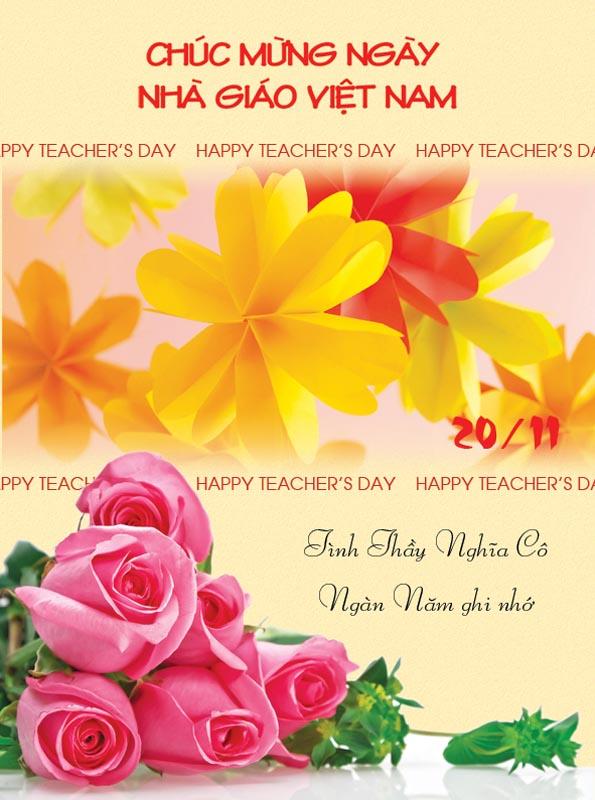 Bộ thiệp chúc mừng ngày nhà giáo Việt Nam 20 - 11 đẹp- Hình 16