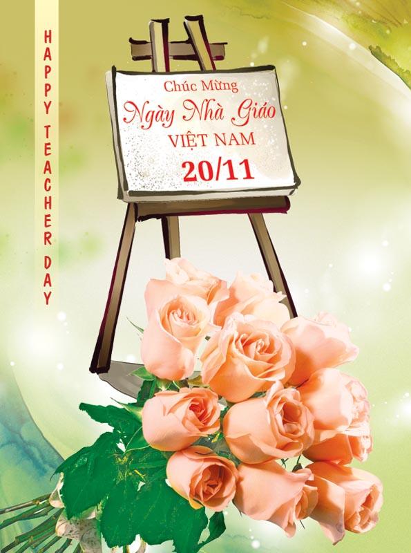 Bộ thiệp chúc mừng ngày nhà giáo Việt Nam 20 - 11 đẹp- Hình 18